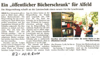 Flyer Bücherschrank Bult
